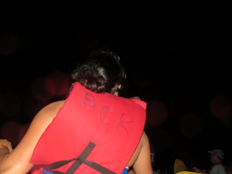 Kayaking at night in the Biobay