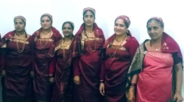 Kodagu women in their traditional finery after a dance performance.