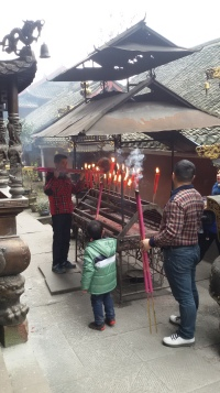 Lighting incense sticks