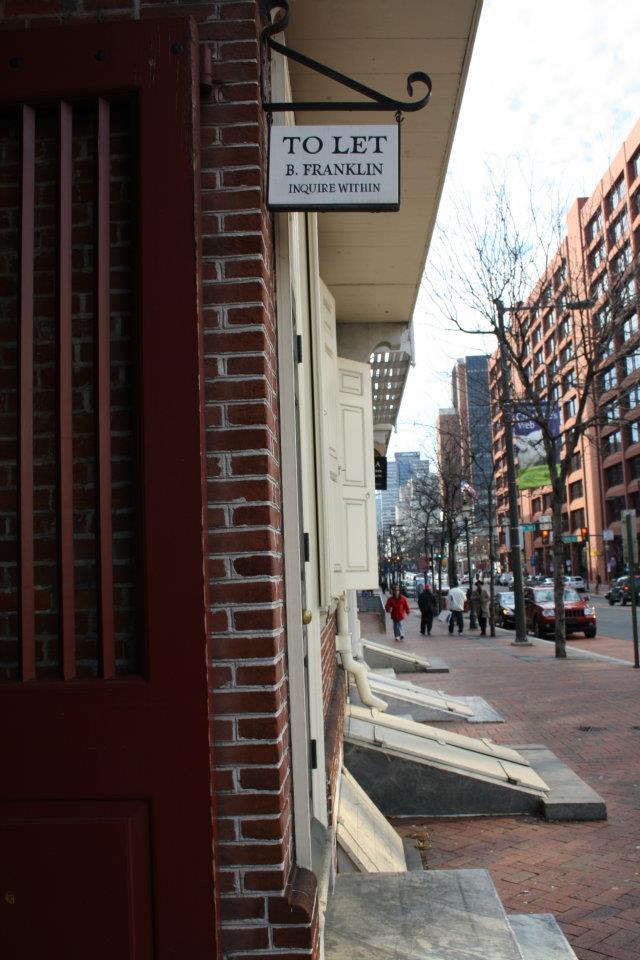 Door way to Ben Franklin's House