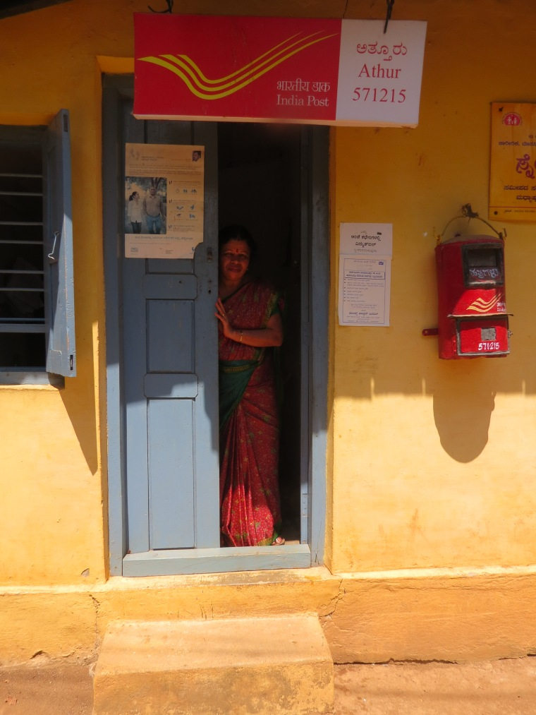 A Post Woman at a one room post office