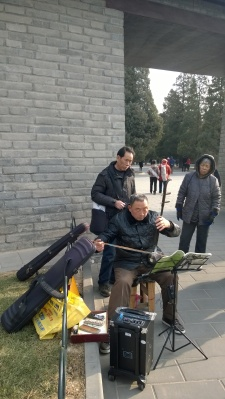 A Street Musician at the Temple of Heaven