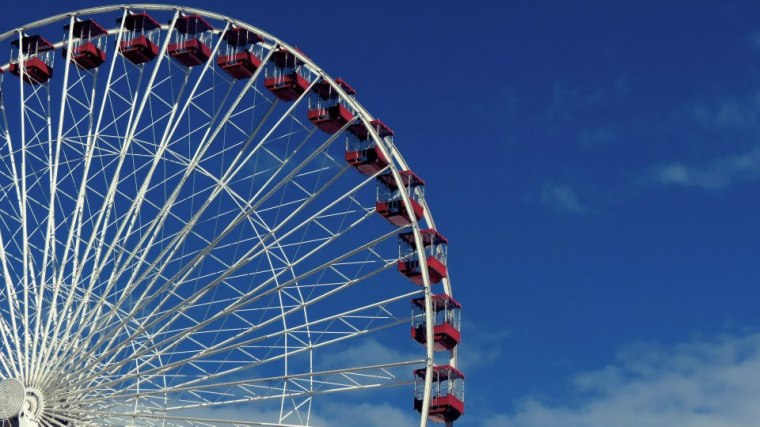 The giant wheel at Navy Pier