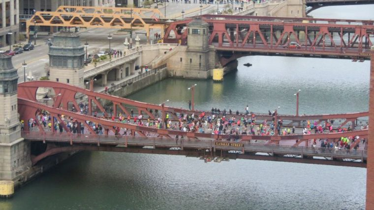 A Glimpse of the Chicago marathon
