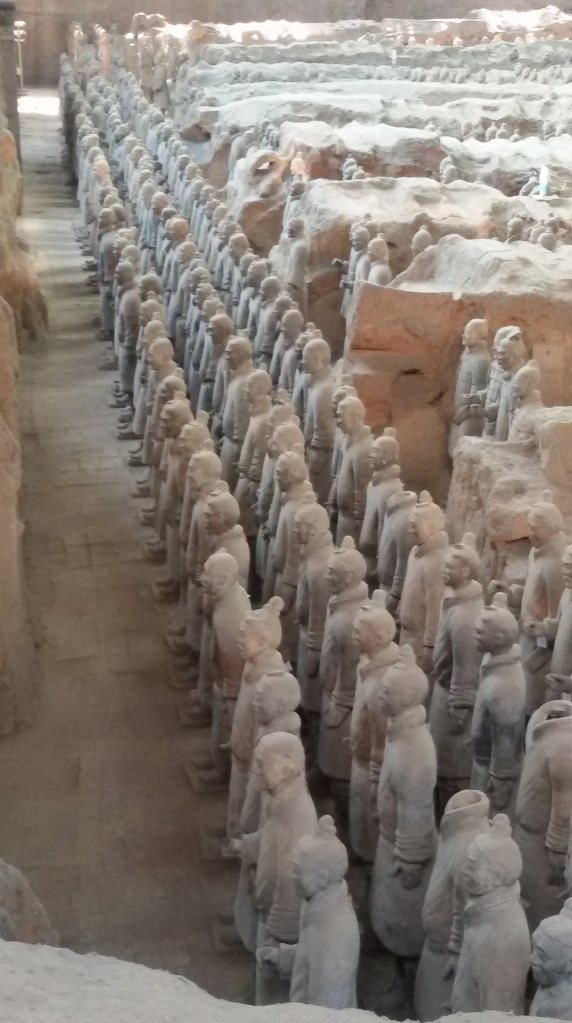 The formidable Terracotta army, still protecting their king.
