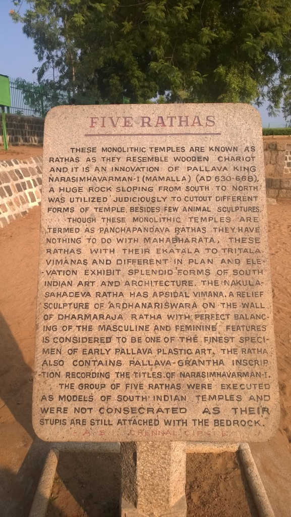 Why the Five Ratha's are an important part of our history