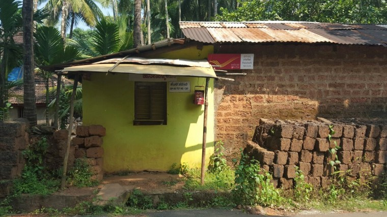 A Post Office closed for the Navratri festival at Gokarna.