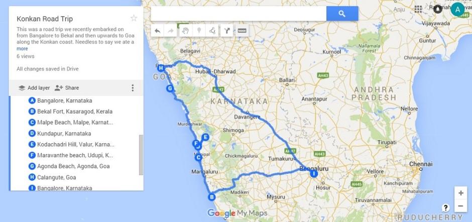 A ten day road trip along the Konkan